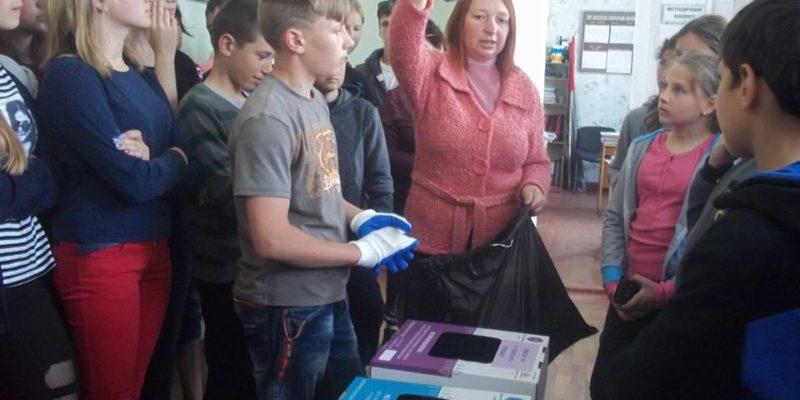 Тренінг з сортування побутових відходів для учнів та персоналу Шульгівського НВК